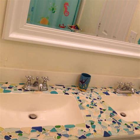mosaic sea glass vanity bathing beauty sea glass crafts sea glass mosaic glass countertops