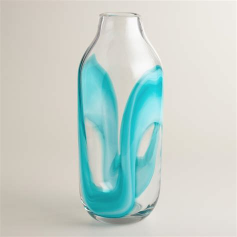 Teal Vase by Glass Teal Vase World Market