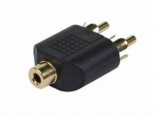 Monoprice 3 5mm Trs Stereo Jack To 2x Rca Plug Splitter