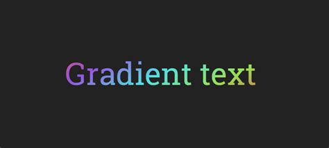 colorful gradient text  css creative punch