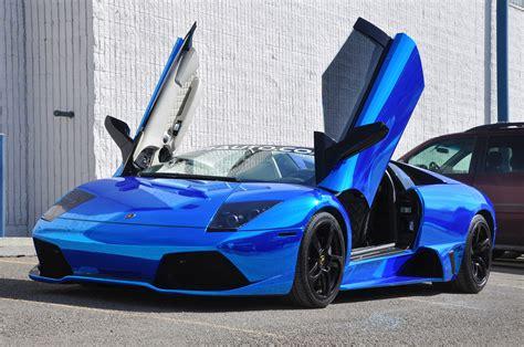 Incredible Chrome Blue Lamborghini Murcielago