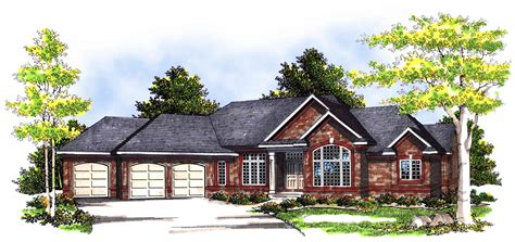 angled ranch home plan ah architectural designs house plans