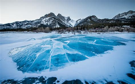 winter mountain blue ice windows  hd wallpapers preview