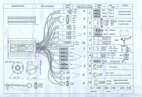 Motorcycle Scooter Wiring Diagram by Electric Bike Controller Wiring Diagram Within E