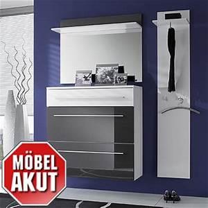 Garderoben Set Weiß Grau : garderoben set lyon in grau wei hochglanz neu ebay ~ Bigdaddyawards.com Haus und Dekorationen