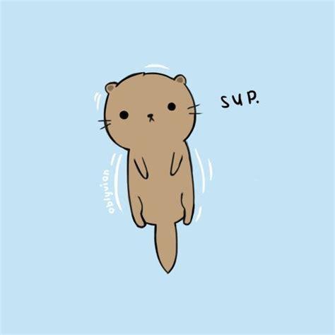 cute otter illustration animals pinterest kawaii