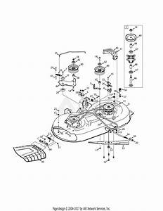 Mtd 13w277ss031 Lt 4200  2015  Parts Diagram For Mower Deck 42