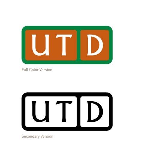 utd colors utd logos brand standards the of at