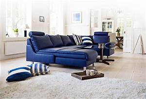 comfortable blue leather sofa to add adorable living room With decorating with blue leather couches