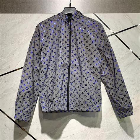 jual jaket pria louis vuitton lv monogram reflective jacket windbreaker  lv box kab