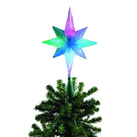 brite star frosty star color changing led tree topper 42