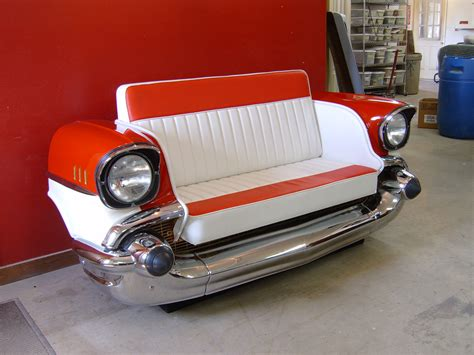 New Retro Cars  Restored Classic Car Couches, Sofas And