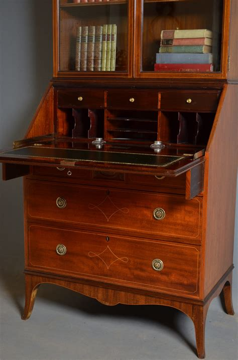 bureau bookcase edwardian bureau bookcase by maples co antiques atlas