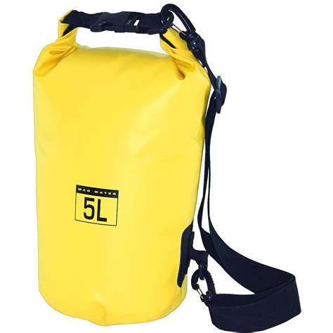 waterproof bag mad water classic roll top waterproof bag 5l yellow Waterproof Bag