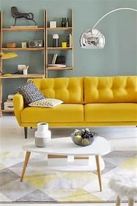 17 meilleures idees a propos de canape jaune sur pinterest With tapis jaune avec plaid canapé gifi