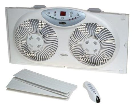 bionaire twin reversible airflow window fan with remote control amazon com bionaire twin reversible airflow window fan