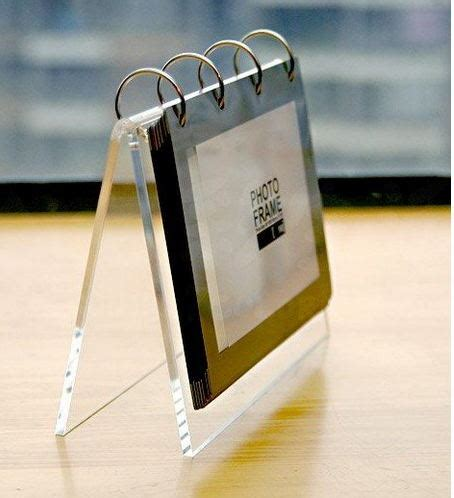 style clear acrylic desktop picture photo stand