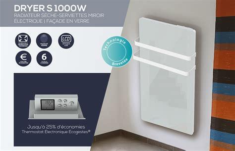Sèche-serviette En Verre Blanc 1000w 1 000 W