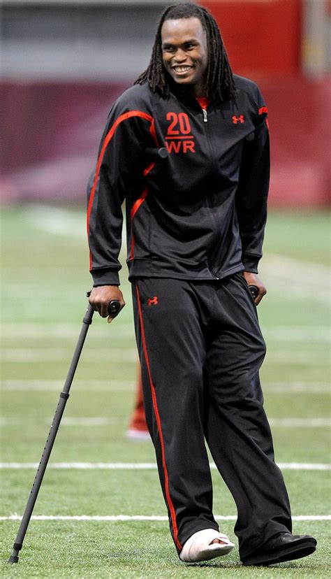 julio jones  crutches  alabamas nfl pro day alcom