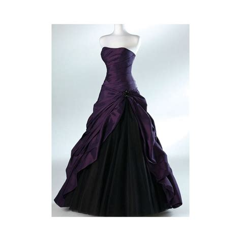 purple amp black wedding dress halloween theme wedding