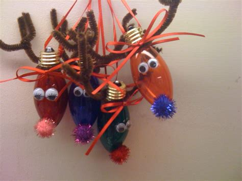 light bulb reindeer ornaments crafts