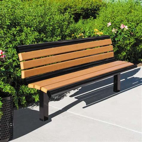 Ultraplay Richmond Recycled Outdoor Bench With Back 61x