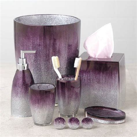 Stardust Purple Bath Collection  Shower Curtain Hooks