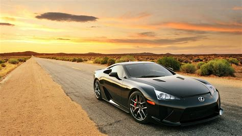 lfa lexus black black lexus lfa on desert full hd desktop wallpapers 1080p