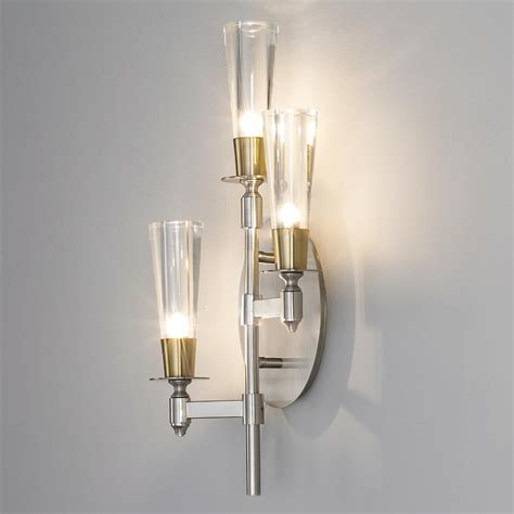 champagne flute tiered wall sconce  light sparkling