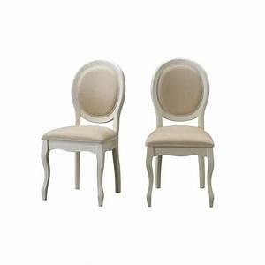 Chaise Medaillon Blanche : chaise m daillon en tissu lot de 2 ecru fiona achat vente chaise blanc cdiscount ~ Teatrodelosmanantiales.com Idées de Décoration
