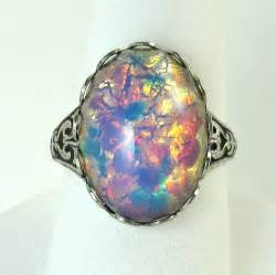 opal engagement ring antique opal ring unique wedding rings