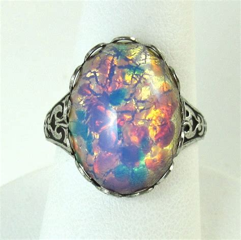 Opel Ring by Opals Rings Glasses Stones Antiques Silver Rings