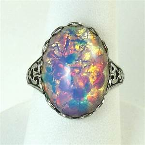 antique opal ring unique wedding rings With opal wedding rings