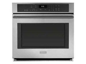 monogram  stainless steel single electric convection wall oven zetshss  ebay