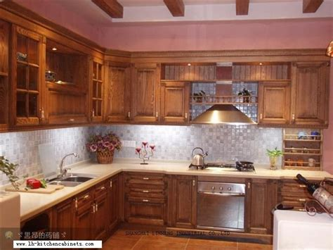 classic kitchens and cabinets classic oak wood kitchen cabinet lh sw027 in kitchen 5434