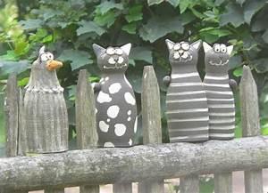 die 25 besten ideen zu gartenfiguren auf pinterest With französischer balkon mit keramik katzen für garten