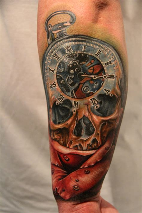 Best Skull Clock Tattoo Ideas And Images On Bing Find What You