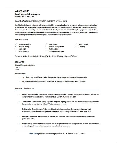 Resume For Warehouse Worker by 9 Sle Warehouse Worker Resumes Sle Templates