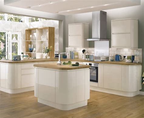 Decorative Kitchen Ideas - bayswater gloss ivory kitchen contemporary kitchens howdens joinery