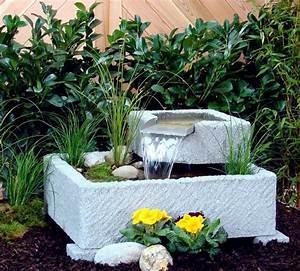 springbrunnen brunnen wasserspiel granitwerkstein stein With französischer balkon mit stein tischplatte garten