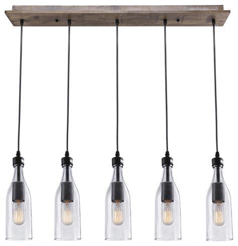 lnc 5 light glass jar hanging ceiling pendant