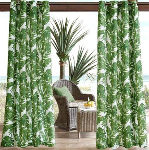 Outdoor Coastal Curtain Panels - Coastal Decor Ideas and