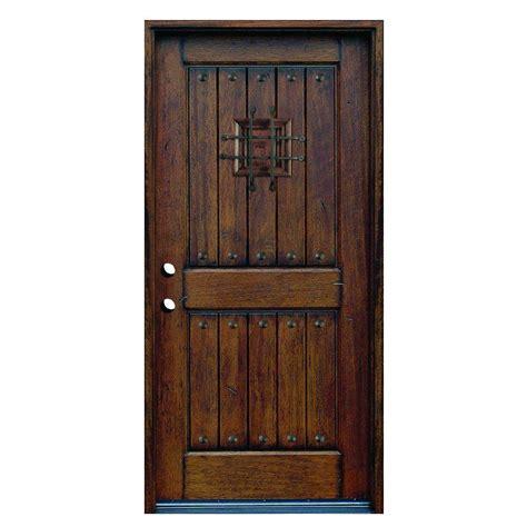 main door      rustic mahogany type  hand