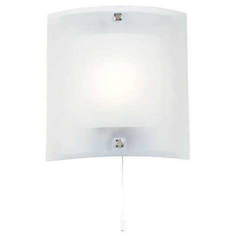 endon square curved glass wall light fitting with