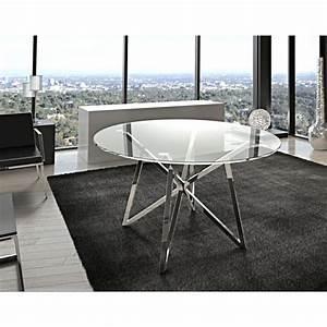 Tisch Glas Metall : runder esstisch glas metall tisch rund verchromt glastisch rund durchmesser 120 cm ~ Markanthonyermac.com Haus und Dekorationen