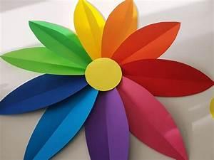 Blumen Basteln Vorlage : papierblumen basteln einfache anleitung f r eine blumen wanddeko ~ Frokenaadalensverden.com Haus und Dekorationen