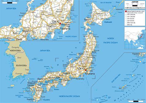 road map  japan ezilon maps