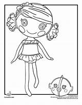 Coloring Pages Lalaloopsy Sea Coral Quill Shell Shells Cartoon Kangaroo Dolls Printable Doll Shotgun Outline Easy Clipart Colouring Template Cartoonjr sketch template
