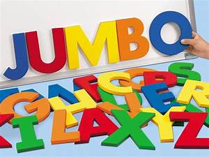 jumbo 5quot magnetic letters uppercase toddler time With jumbo foam letters