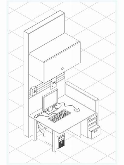 Isometric Dwg Drawing Computer Desk Drawings 2d